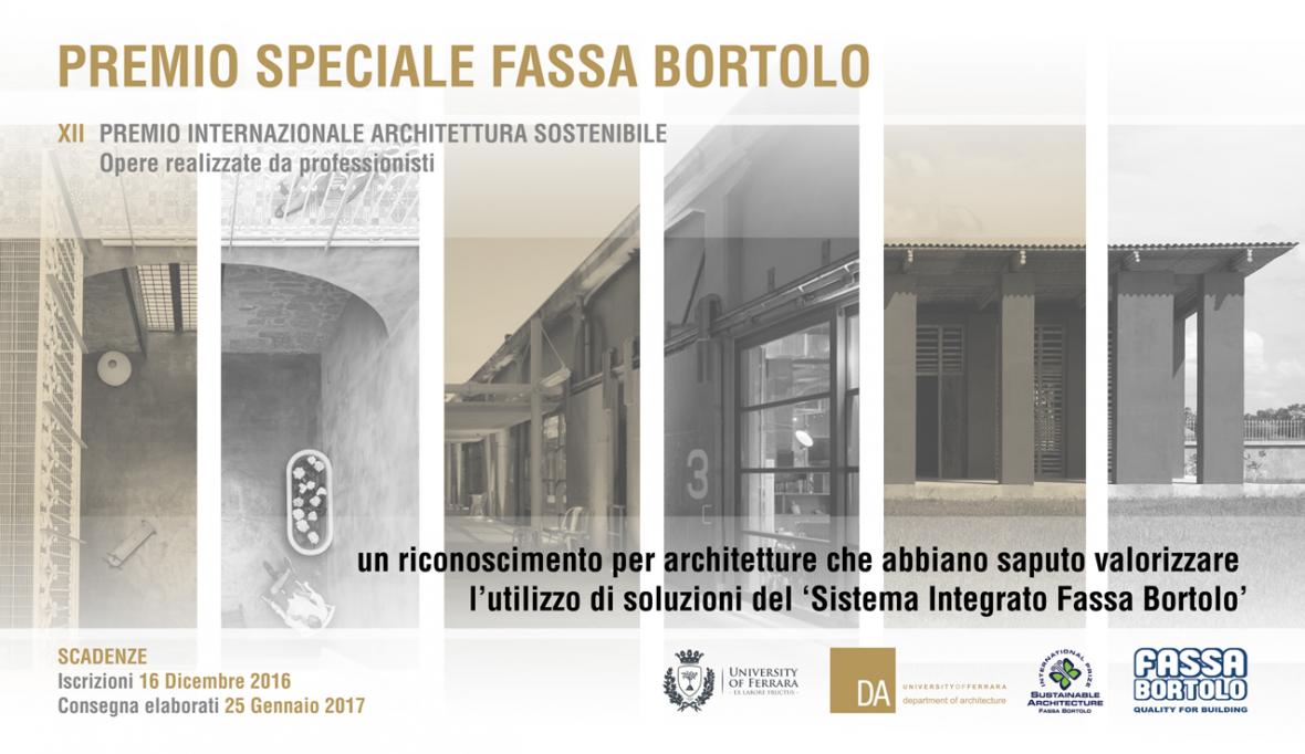 Architettura Sostenibile Architetti premio internazionale architettura sostenibile fassa bortolo